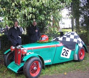David Clewley's MG racer