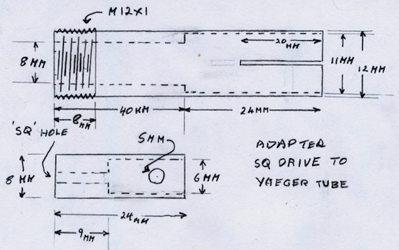 Cable End Converter Drawing
