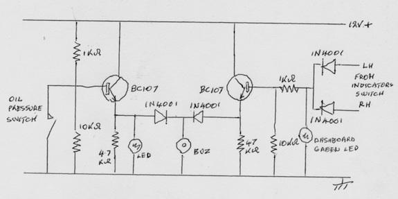 MG TA Indicators Circuit Diagram