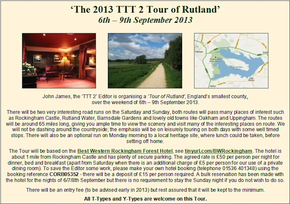The TTT2 Tour of Rutland
